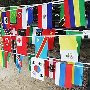 Banderas internacionales de 50 banderas, banderas de 50 países, banderas del mundo, pancarta para decoración de fiestas, Olympic, Bar, club de deportes, eventos escolares