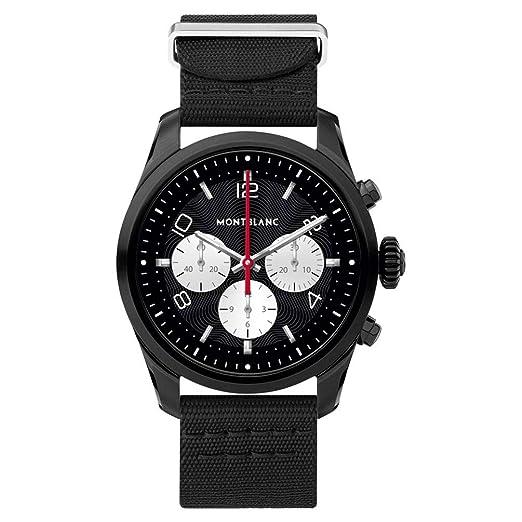 Amazon.com: Montblanc Summit 2 Smartwatch 119560 Black Steel ...