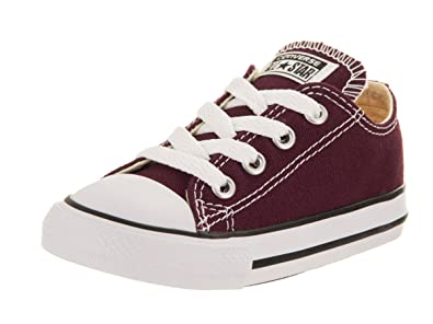 6f4df12b4ea4ab Converse Chuck Taylor All Star Ox Toddler Shoes Burgundy 739794f (2 M US)