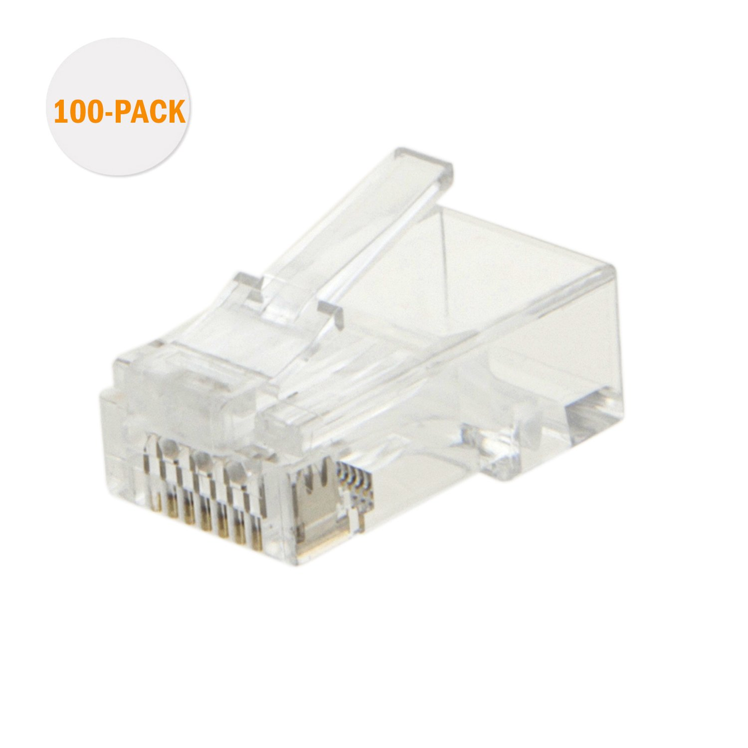 Cat6 Rj45 Ends Cablecreation 100 Pack Connector Cat6a Cat5e Wiring Plug Ethernet Cable Crimp Connectors Utp Network For Solid Wire And