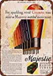 1937 Majestic Matched Radio Tubes 10 x 7 Vintage Look Reproduction Metal Sign