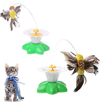EcLife - Juguete para Gato y Gato con Forma de Mariposa giratoria y giratoria, Juguete para Gato: Amazon.es: Productos para mascotas