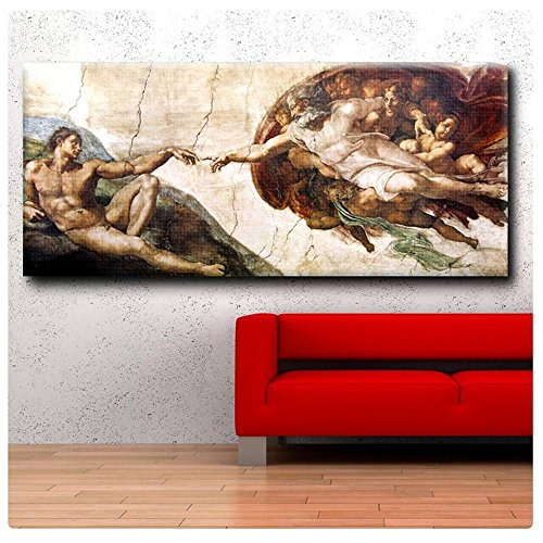 Alonline Art - The Creation Of Adam Michelangelo POSTER PRINTS ROLLED (Print on Fine Art PHOTO PAPER) 63