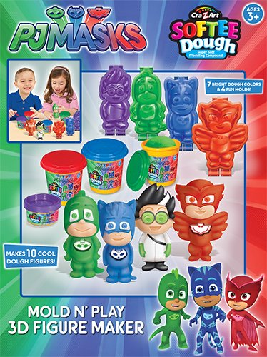 Cra-Z-Art PJ Masks3D Mold N Play Softee Dough Figure Maker Childrens-Art