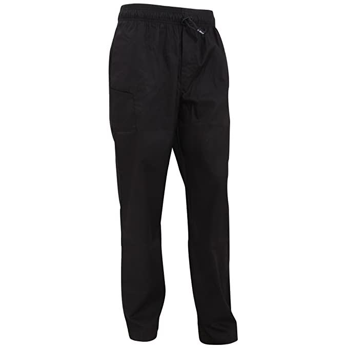 Le Chef - Pantaloni da Chef professionali - Unisex (XS) (Nero)  Amazon.it   Abbigliamento 718946ec3309