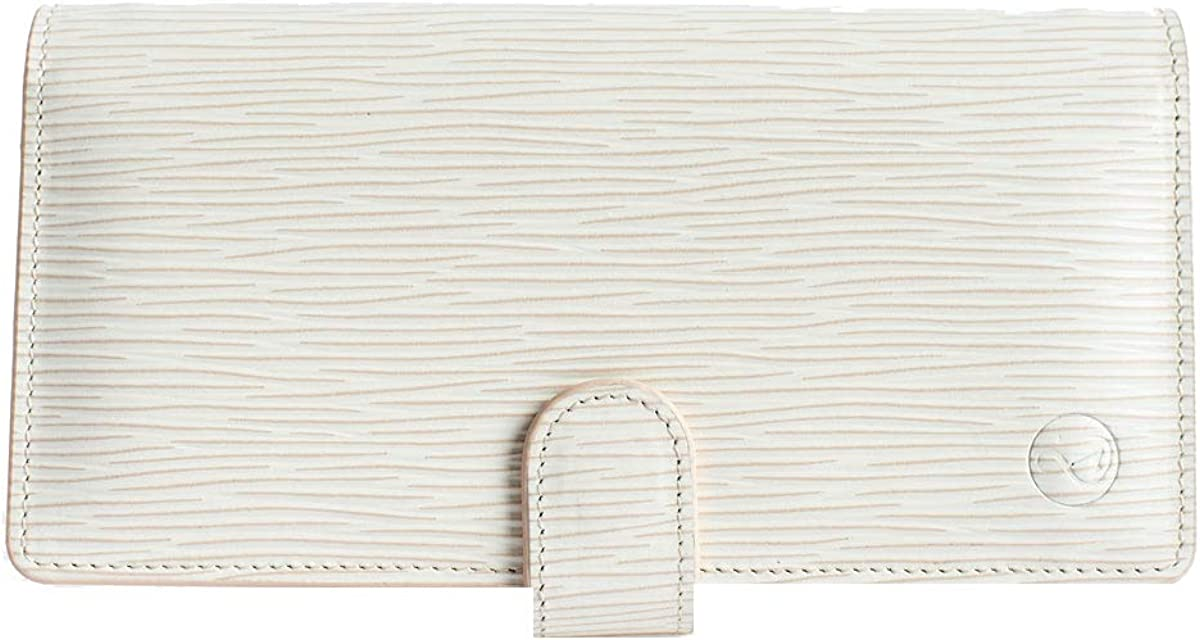 Crossbody Cell Phone Clutch Dimension Leather Trend Line /— Ivory Rippled European Leather