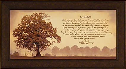 Merveilleux Living Life By Bonnie Mohr 22x40 Life Is A Journey Inspirational Quote Tree Framed  Art Print