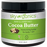 Cocoa Butter by Sky Organics (16 oz) Pure Unrefined Raw Cocoa Butter for Body, Hair and DIY Raw Cocoa Body Butter…