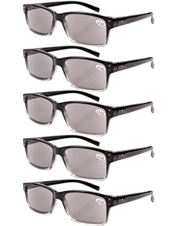 76fe147154e3 Eyekepper 5-Pack Spring Hinges Vintage Reading Glasses Men Includes  Sunshine Readers
