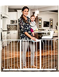 Regalo Extra WideSpan Walk Through Safety Gate, White BOBEBE Online Baby Store From New York to Miami and Los Angeles