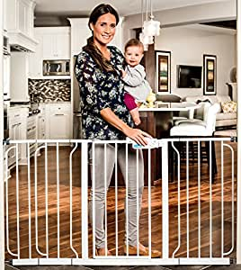 Regalo Extra WideSpan Walk Through Safety Gate, White