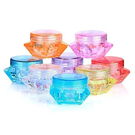 24pcs plástico Multi Color vacío muestra Cosmetic jars Boxs Vial botellas para loción crema maquillaje sombra