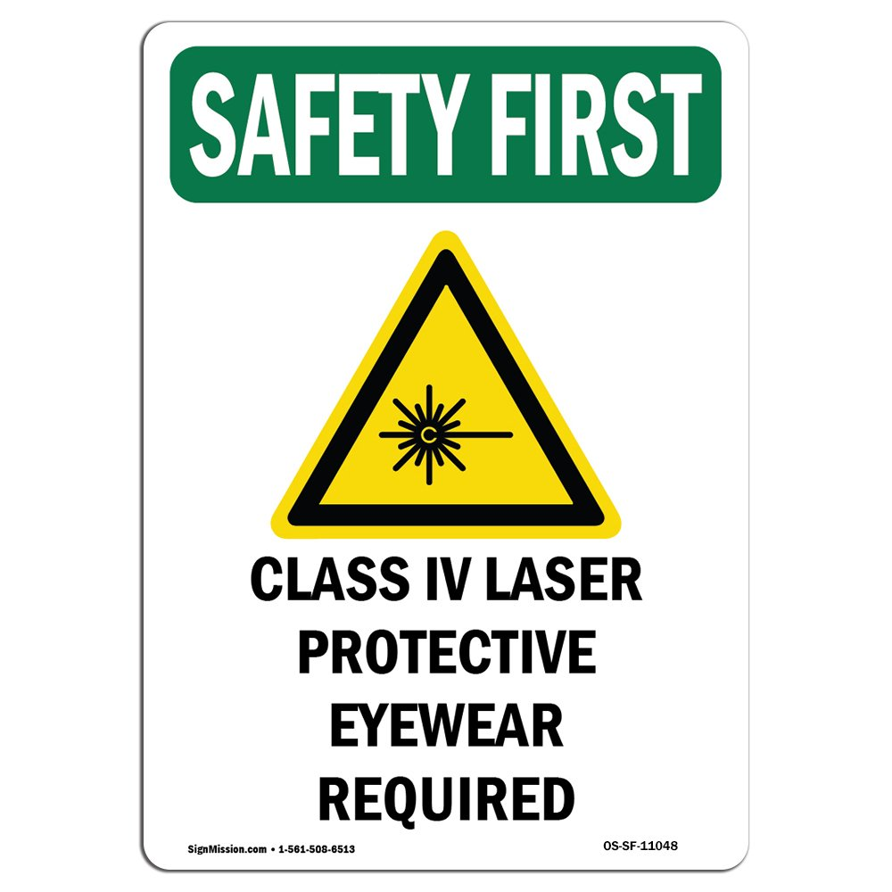 Amazon Osha Safety First Sign Class Iv Laser Protective With