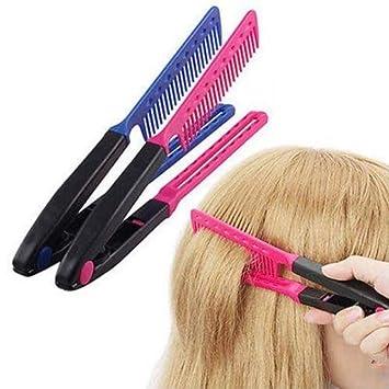 Anvil Pelo Peines Tipo V Alisador De Pelo Peinado DIY Salon Peluquería Herramienta De Estilo,Blue: Amazon.es: Deportes y aire libre