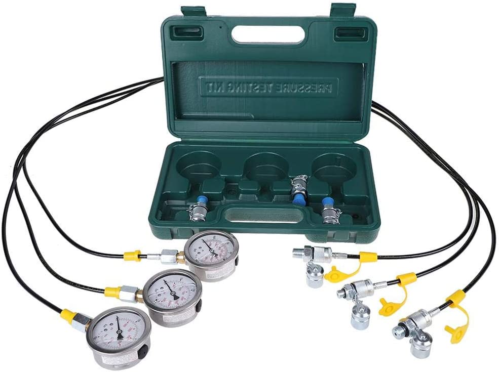Hydraulic Pressure Test Kit Test hose Excavator Hydraulic Pressure Test Coupling Kit for Excavator Construction Machinery with Pressure Gauge Connector
