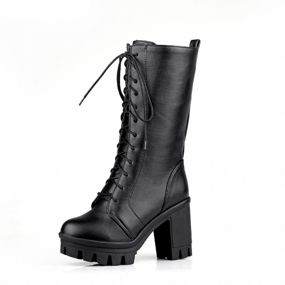 572c5339238 Carol Shoes Women's Cosplay Lace-up Fashion Platform Chunky Heel Martin  Boots