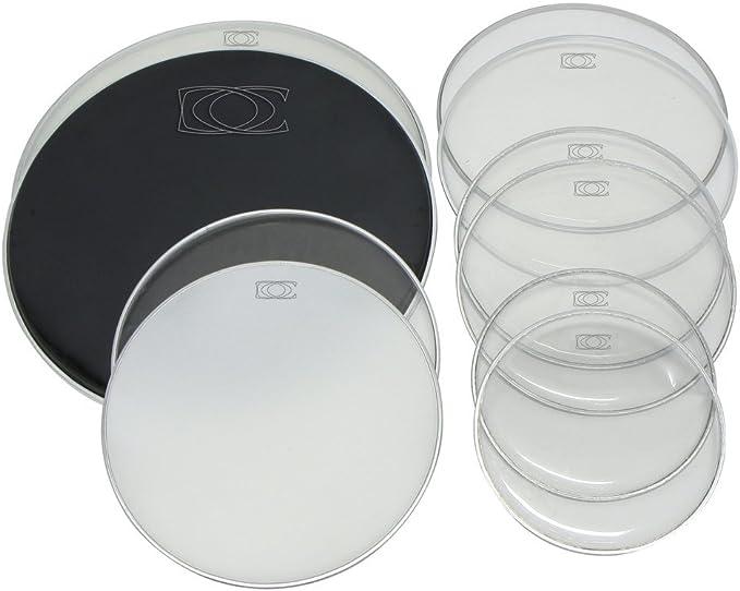 Set de parches tambores, el pack incluye 2 piezas (uno parche batidores y uno parche resonates) de cada tamaño 10/12/14/13SD/18BD adecuado para todas las marcas: Amazon.es: Instrumentos musicales