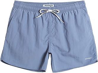 e72848aa66 MaaMgic Men Swimming Shorts Classic Mesh Lined Surf Trunks Quick-Drying  Beach Shorts Adjustable Drawstring