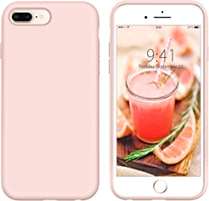 YINLAI iPhone 8 Plus Case iPhone 7 Plus Case Slim Silicone Non Slip Grip Soft Rubber Bumper Hybrid Hard Back Cover Protective Shockproof Girly Phone Case for iPhone 8 Plus/ 7 Plus 5.5