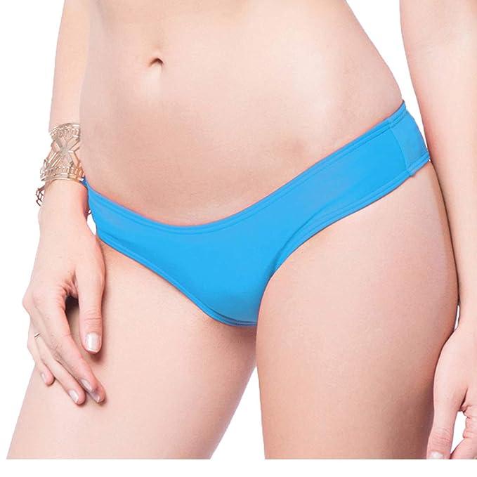 Braguitas Tangas Parte Inferior Traje de baño Mujer Alta Elasticidad Color Sólido Talla Grande Colores Varias Bikini Vendaje850840