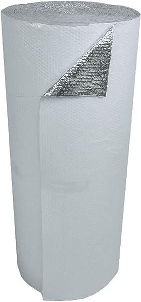 """12/"""" x 100/' Single Bubble Reflective Foil Insulation SOLID Vapor Barrier 100SQFT"""