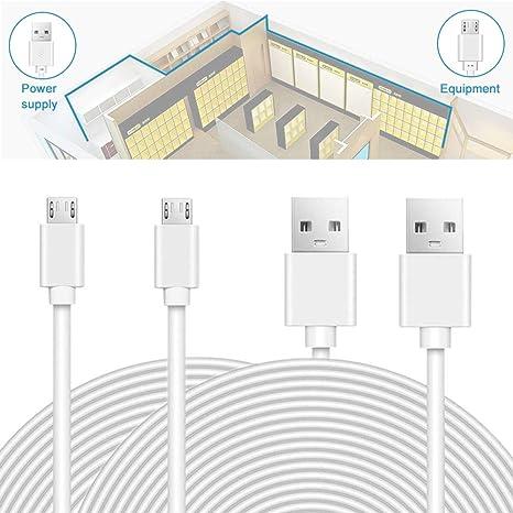 iabler 20 ft Cable USB de alimentación para nido Cam, wyzecam, Amazon Cloud Cam, cámara de ...