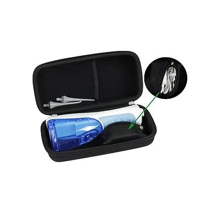 Estuche de viaje duro para Waterpik Waterflosser inalámbrico y profesional de agua Flosser Nano Sonic cepillo de dientes WP450 WP-440 funda de ...