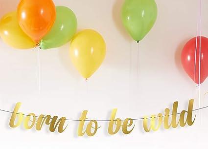 Amazon.com: Born To Be Wild Guirnalda de cumpleaños con ...