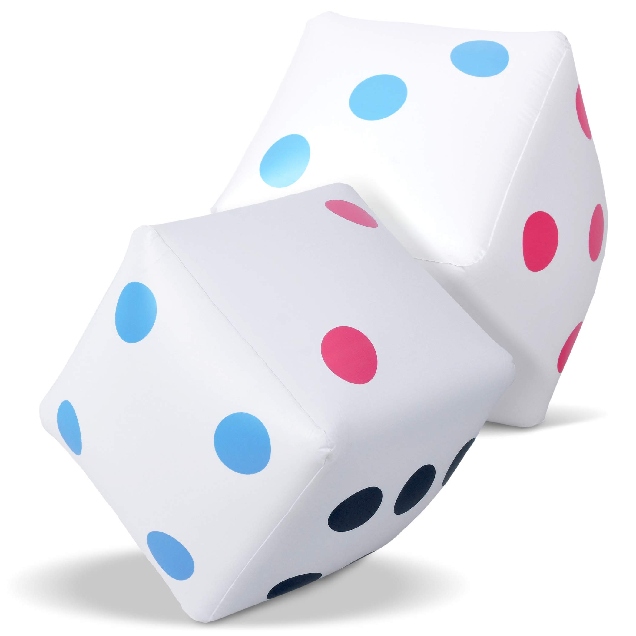 GoSports Giant 2' Inflatable Dice for Dice Games | Jumbo Size with Rapid Valve Inflation, 2 Pack by GoSports