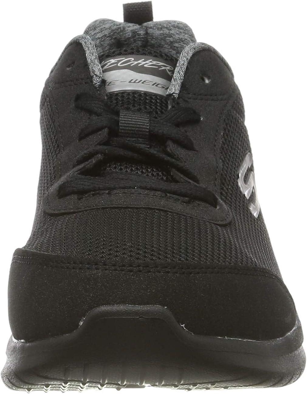 Skechers Ultra Flex 2.0, Sneaker Donna Black Mesh Duraleather Trim Bbk