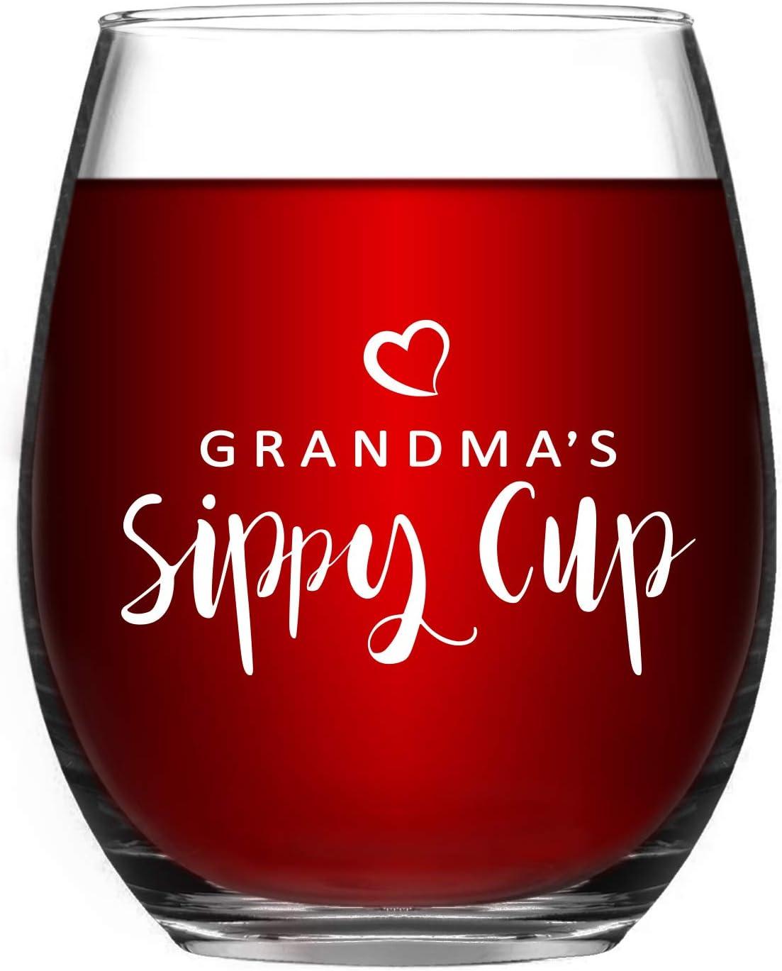 Copa de cristal 500 ml Mamma S Zio Mamma Nonna Zia Mejor del Mundo Copa de vino grabada con pap/á abuelo