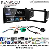 Volunteer Audio Kenwood DDX9704S Double Din Radio Install Kit with Apple Carplay Android Auto Fits 2005-2007 Volvo S60, V70, XC70