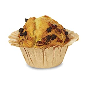 """Welcome Home Brands TG0047 Kraft Disposable""""Muffin Basket"""" Baking Cup 2 Inch Diameter x 1.85 Inch High - Pack of 100"""