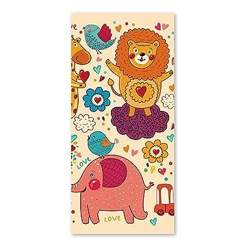 Cute dibujos animados animales toallas de playa para niños rápido secado Limpieza Toallas de baño de ...