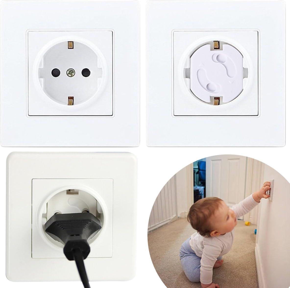 2 cl/és pour la protection de votre b/éb/é//enfant Lot de 8 cache prises