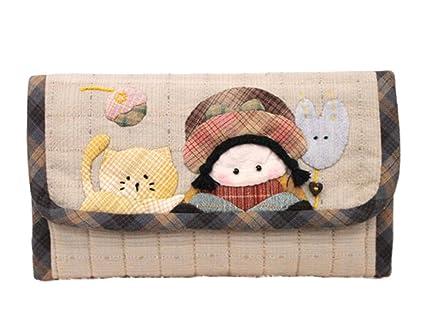 La muchacha y el gatito monedero de la cartera que hace fuentes Kit proyecto de costura del arte de DIY Kit Diversión Craft