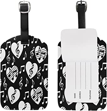 2 Pack Luggage Tags Love Hearts Handbag Tag For Travel Bag Suitcase Accessories