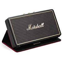Marshall Stockwell Portable Bluetooth Speaker, Lightweight Wireless Active Stereo Speaker with Powerful and Customisable Sound, Black