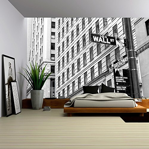 Cheap  wall26 - Sign on Wall Street in New York City - Removable..