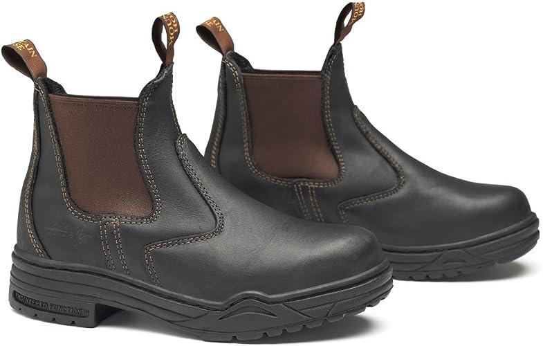 Horse Riding Rider Steel Toe Leather Short Jodhpurs Light Boots Brown Big Sizes