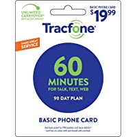 Tracfone 60 Minute Card + 90 days of Service - Airtime Card Refill - PIN # Number...