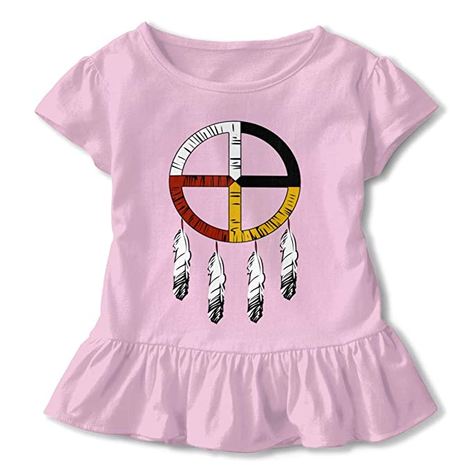 Amazon com: Native American Medicine Ruffled Tshirt Short