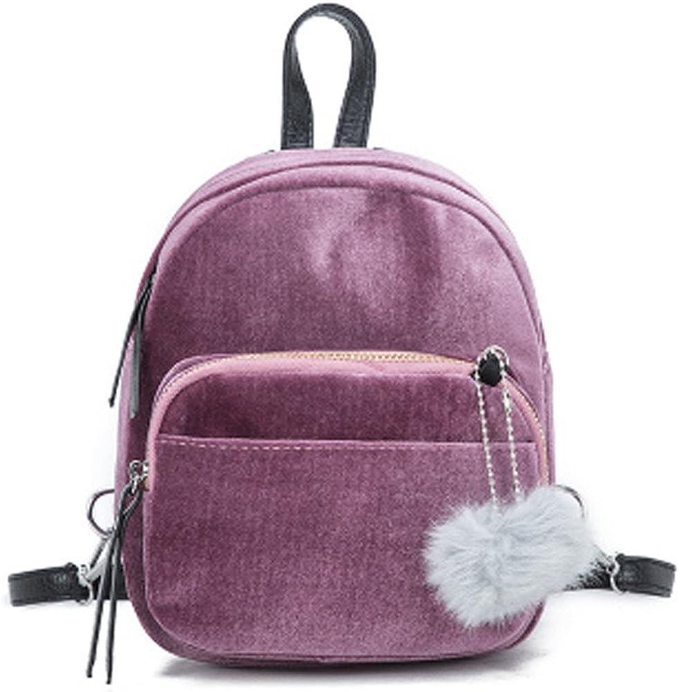 2020 Summer Newest Arrival Holiday Party Beach Under 5 dollar Unisex Mini Fur Ball Backpack Fashion Shoulder Bag Solid Women Girls Travel School Bags FORUU Bags