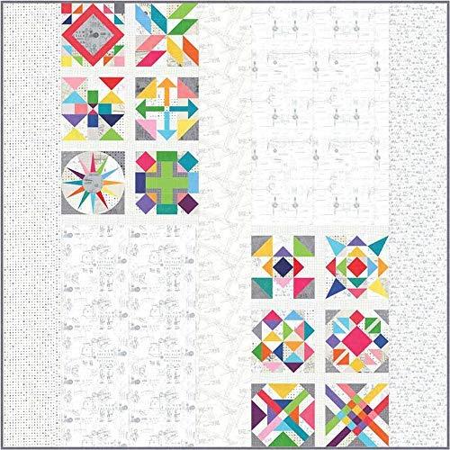 - Zen Chic Spotted More Paper BOM Quilt Kit Moda Fabrics KIT1660