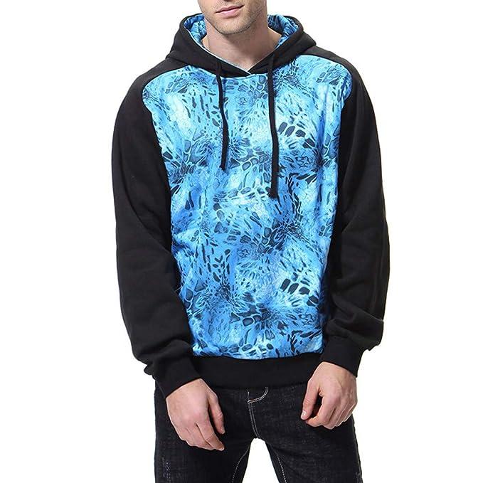 Bestow Hombres de Moda Otoño Invierno Imprimir Manga Larga con Capucha Sweatershirt Blusa Superior: Amazon.es: Ropa y accesorios