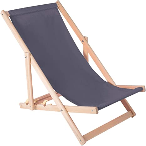 San Miguel Original Outdoor Holz Liegestuhl Gartenstuhl klappbar NEU hochwertig