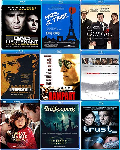 I Love Mega Movies Blu-ray Box Collection 10 Films - Bernie / Rampart / Bad Lieutenant / TransSiberian / Paris / What Maisie Knew / Trust / Proposition / Joan Rivers / Innkeepers Set (Nicolas Cage Wicker Man)