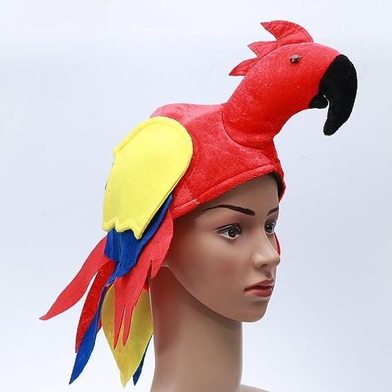 Gorro de loro para fiesta de disfraces - Gorro de aves.