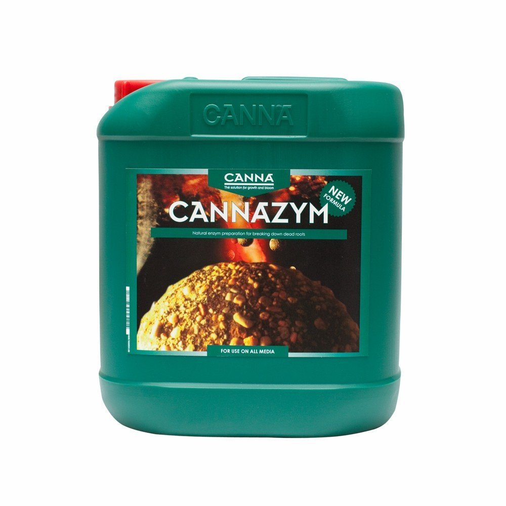 Canna 5 L Cannazym Enzymatic Additive-for Grow & Bloom-0-2-1 NPK Ratio-CANNA 9332005