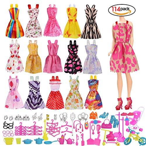 Doll Clothes Party Gown Outfits And Accessories for Barbie (Braces skirt)